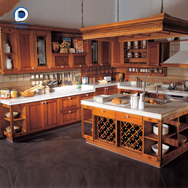 Prima european style solid wood kitchen cabinet for sale for Kitchen cabinets zambia