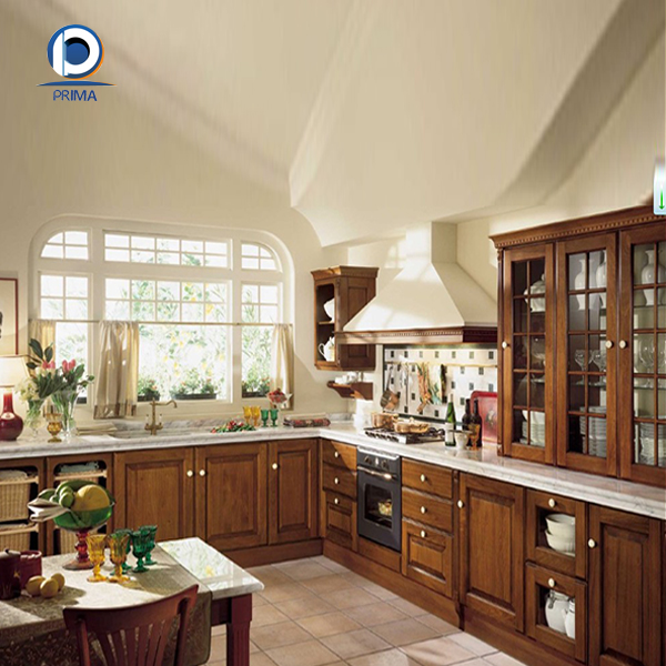 Modular american solid wood best kitchen cabinet with for Best product to clean wood kitchen cabinets